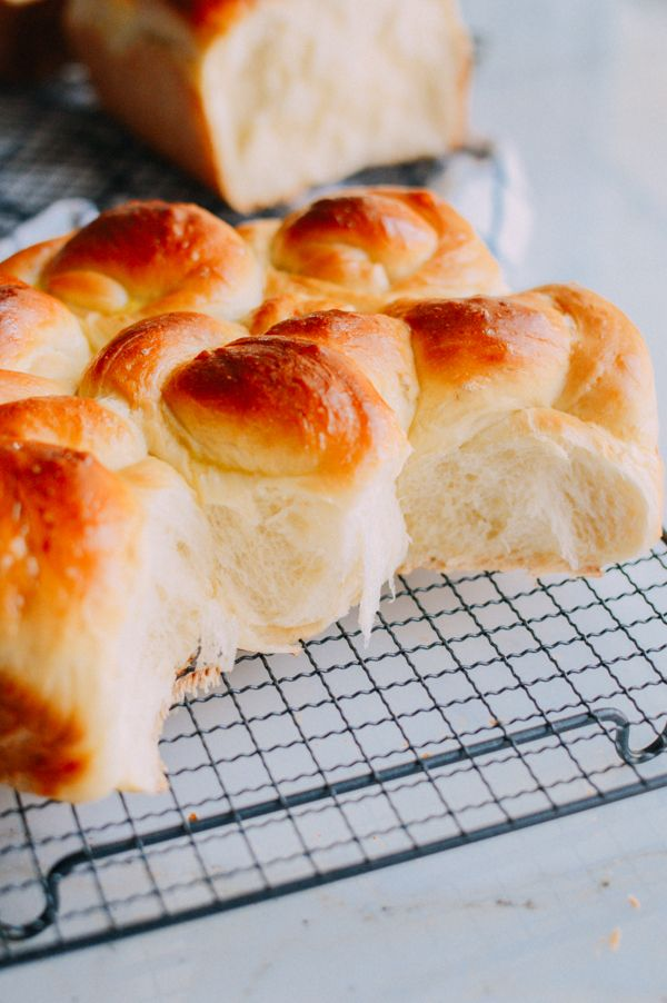 Milk Bread: You'll need:  2/3 cup heavy cream (at room temperature)1 cup, plus 1 tablespoon milk (at room temperature)1 large egg (at room temperature)1/3 cup sugar1/2 cup cake flour3 1/2 cups bread flour1 tablespoon active dry yeast1 1/2 teaspoons saltEgg wash: whisk together 1 egg with 1 teaspoon water
