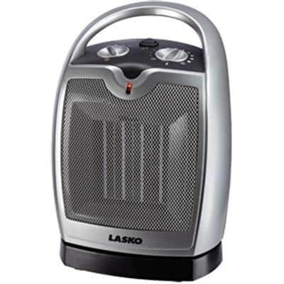 Lasko 5409 Oscillating Ceramic Tabletop/Floor Heater With Thermostat