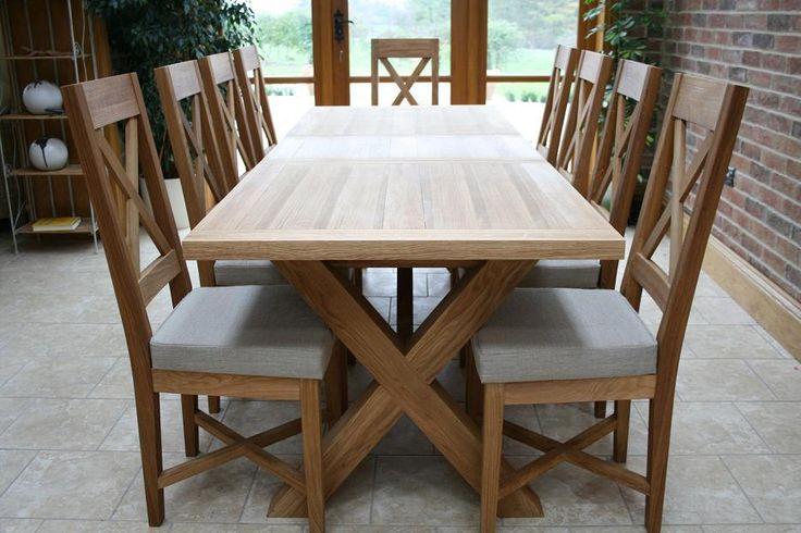 Cross-Leg-Oak-Extending-Dining-Table-2.jpg (934×623)