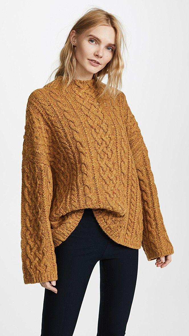 ffbc472e1945 Oversized Fisherman Sweater