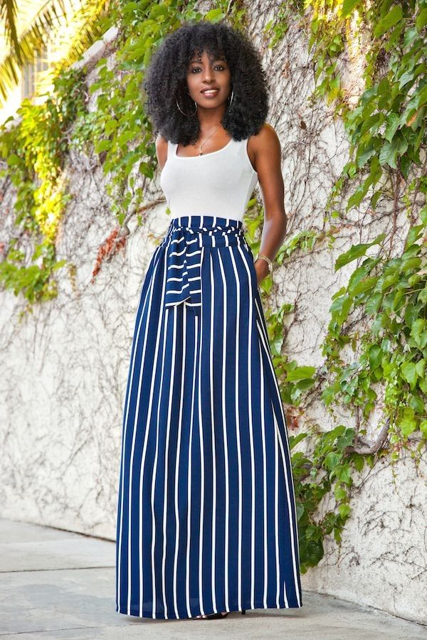 Who knew a jersey maxi skirt could look so impossibly elegant?Click through to shop the look.
