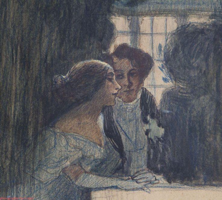 George Sand et Alfred de Musset par Célestin NANTEUIL