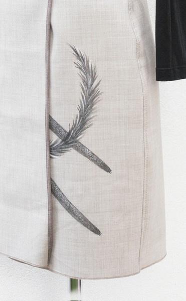 Skirt - animanili - Pezzi unici costruiti e dipinti a mano con materiali di alta qualità la gonna con la coda...