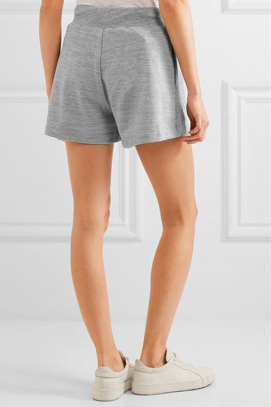 Moschino - Printed Stretch-jersey Shorts - Gray - IT38