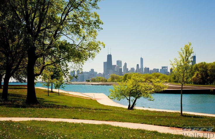 Ausgezeichnete und lebendiges Bild des Parks in Chicago