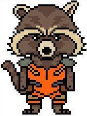 Guardians of the Galaxy: Rocket Raccoon Chart PDF Pattern