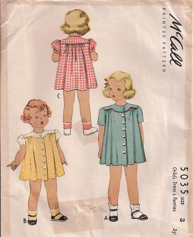 sweet little girl's vintage dress pattern