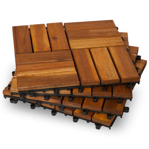 twelve slat classic wood deck tiles box ikea interlocking canada