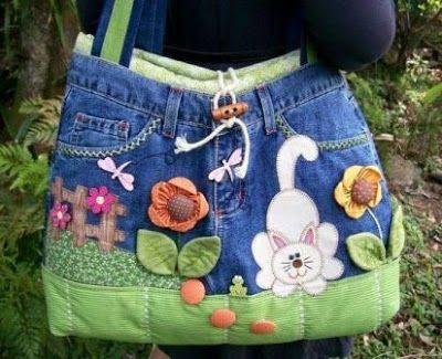 15 Ideas para Convertir tus Jeans Viejos en Increíbles Bolsas ¡Woow!