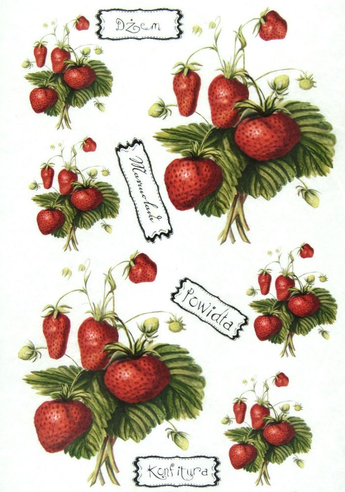 Ricepaper/Decoupage paper,Scrapbooking Sheets /Craft Paper Strawberry