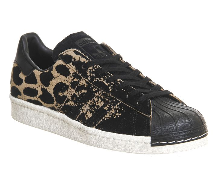 Buy Black Leopard W Adidas Superstar 80s from OFFICE.co.uk.