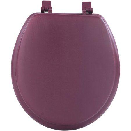 Fantasia 17 inch Soft Standard Vinyl Toilet Seat, Red