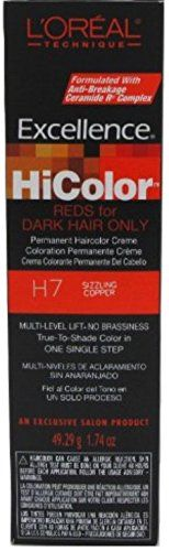 L'Oreal Excellence HiColor Sizzling Copper, 1.74 oz:   For the most up to date information, we recommend you visit the manufacturer website for the best product details, including ingredients, hazards, directions and warnings.