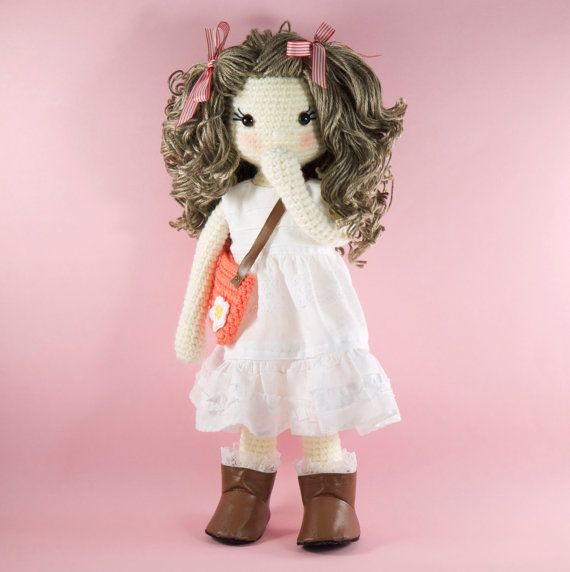 Amigurumi Häkeln Puppe hübsches Mädchen Puppe von BubblesAndBongo