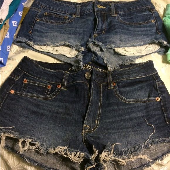 American Eagle shorts size 6 American Eagle Jeans size 6. Never been worn!! $25 per shorts. $50 for both American Eagle Outfitters Jeans