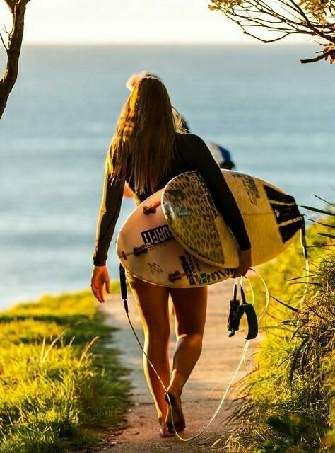Surf girl… nature love