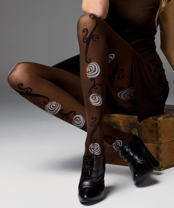 Geraldine nogavice v črni nogavici Platino nogavice-3661