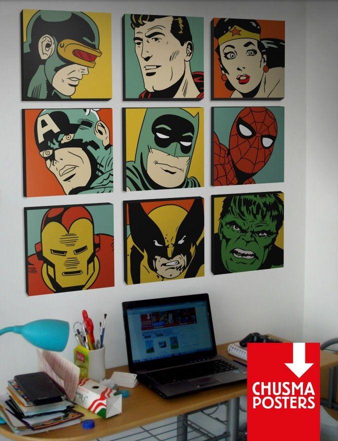 Tus personajes favoritos en cuadros decorativos