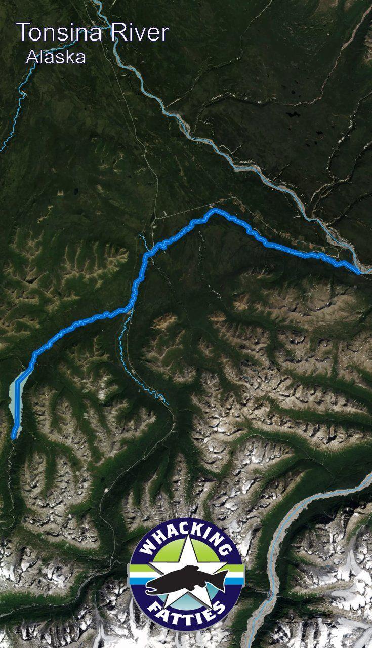 Alaska Major Cities Map%0A Fishing Report Tonsina River
