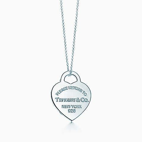 Return to Tiffany® heart tag pendant in sterling silver, medium.