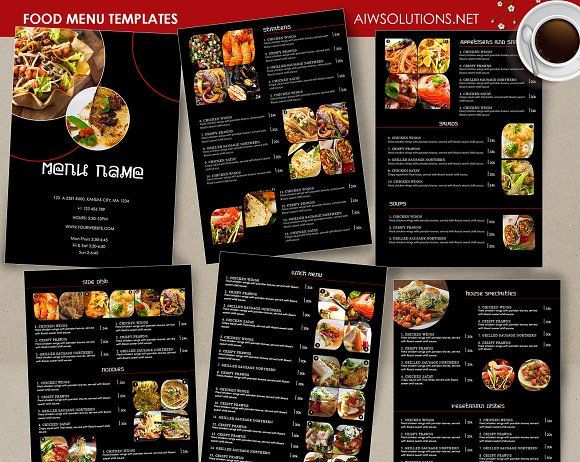 Creative blackboard food menu templates for your restaurant - food menu template