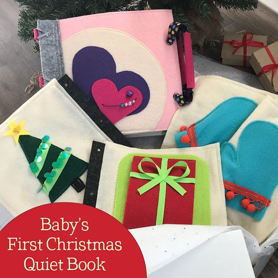 Baby's First Christmas Quiet Book for 1 Year Old Girls