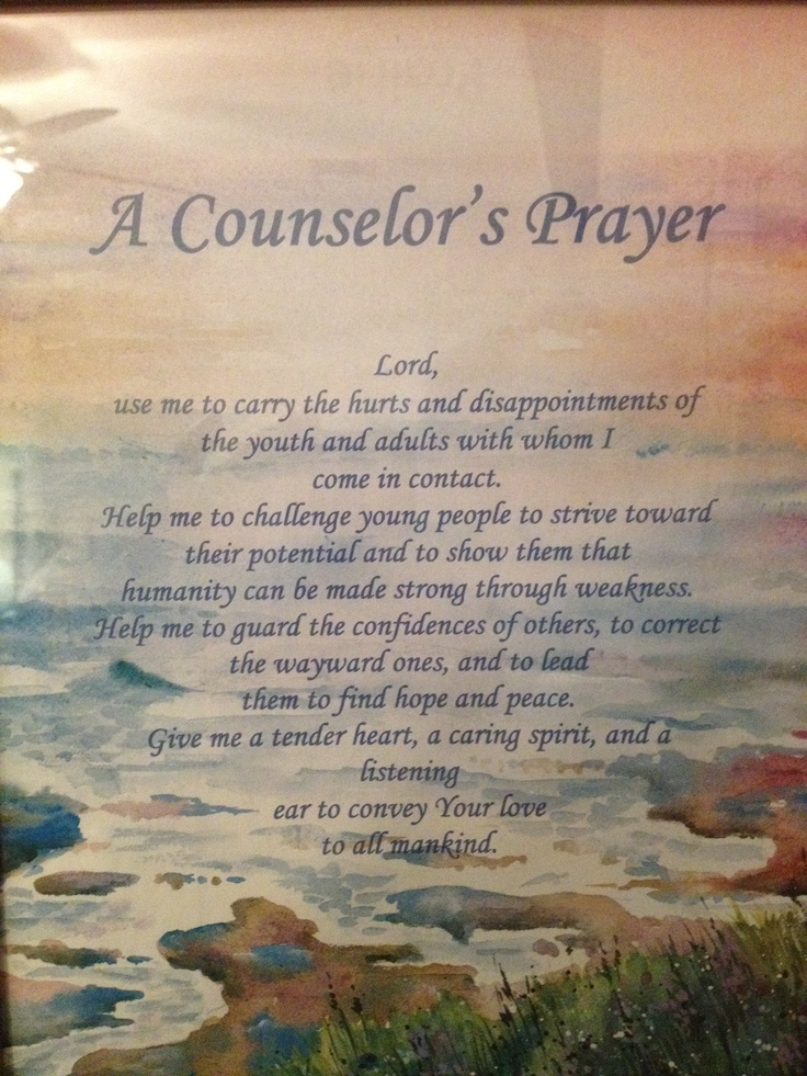 prayer in counseling At the end of the healing prayer sessions we will evaluate the need for additional  prayer sessions, recommend additional pastoral/professional counseling or.