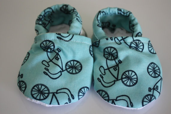 Bike Baby booties by JoeEllz on Etsy, $15.00