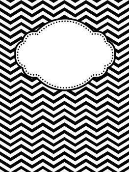 {Editable} Chevron and Polka Dot Binder Covers:
