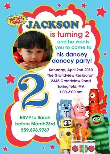 311 best yo gabba gabba party images on pinterest | yo gabba gabba, Wedding invitations