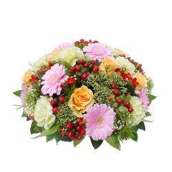 Les fleurs deuil Composition Coussin Héliade
