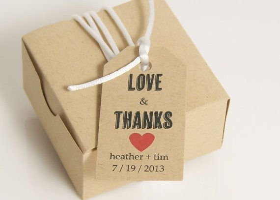 Small personalized wedding favor box