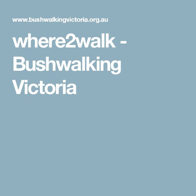 where2walk - Bushwalking Victoria