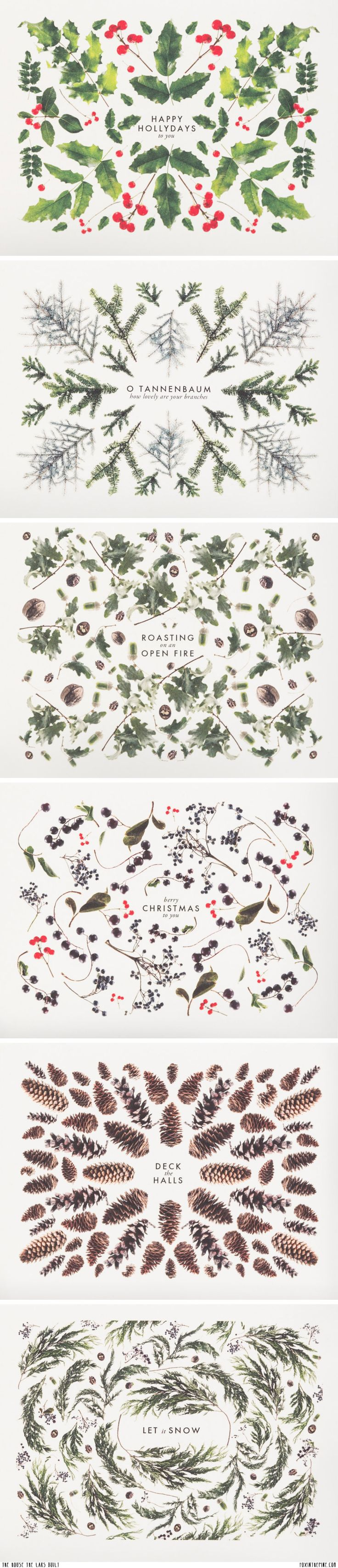 Christmas Cards / The House that Lars Built, via Fox in the Pine