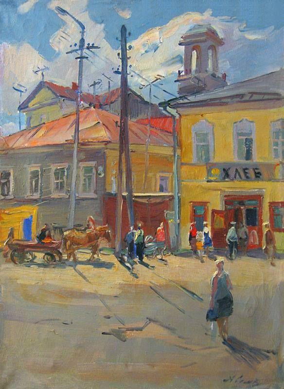 Семёнов Александр Михайлович (1922-1984) «Торжок утром» 1972