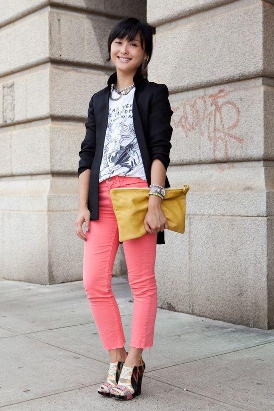 59 best how to wear color denim images on Pinterest ...