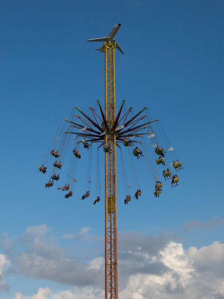 Fun in the Sky. Oktoberfest. Munich. Germany.