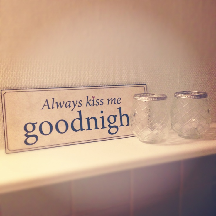 Bathroom - goodnight sign, love
