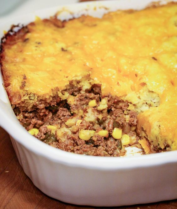 In Texas we love tamales. Texas Tamale Pie is a spin on beef tamales. One of my favorite recipes, and everyone seems to love it, WIN WIN!