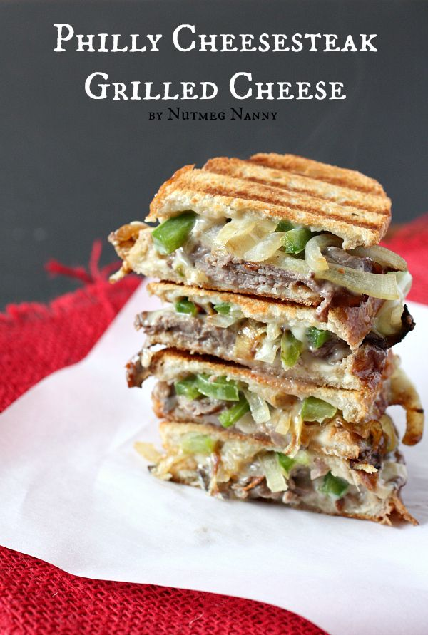 Philly Cheesesteak Grilled Cheese by Nutmeg Nanny