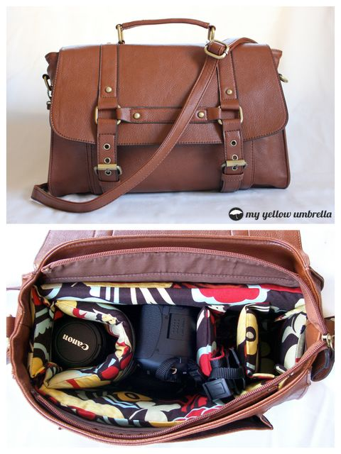 Make a custom camera bag....: Custom Camera, Idea, Camera Bags Insert, Yellow Umbrellas, Diy Crafts, Crafts Pinterest, Leather Bags, Popular Pin, Diy Camera