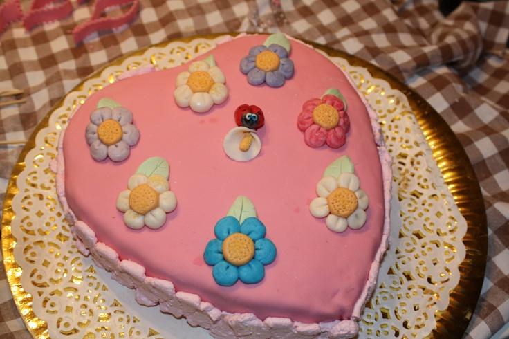 Flowery Heart Cake by Pat Zardi