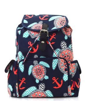 Monogram Backpack/ personalized Anchor/turtle backpack/Diaper bag by sewsassybootique on Etsy