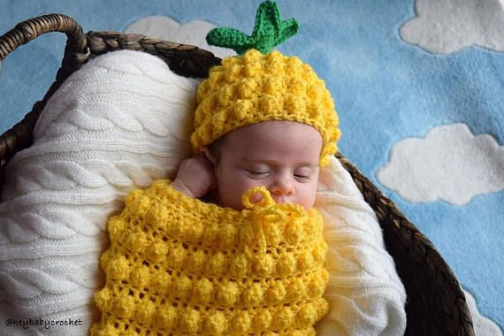 EASY Newborn Crochet Pattern Cocoon for Photography Instant Download PDF Pattern
