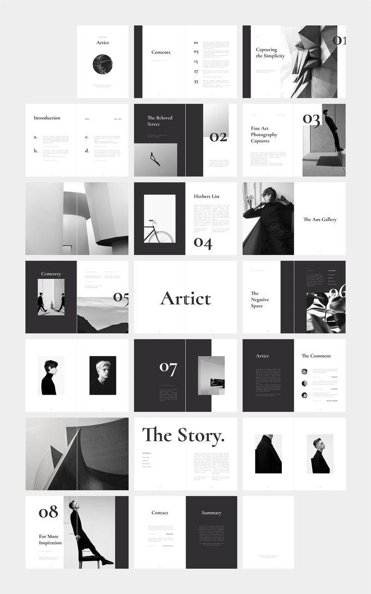 ARTICT BW Photography Portfolio ~ Magazine Templat…