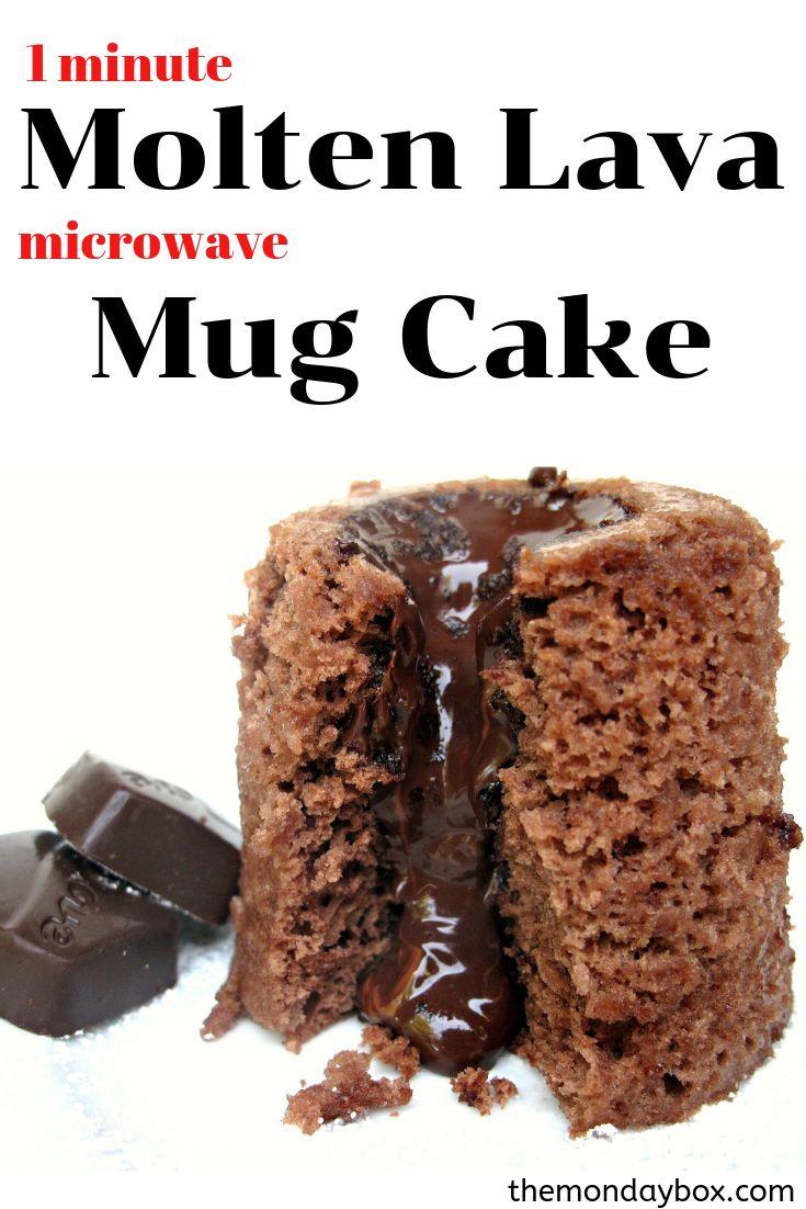 3-2-1 Molten Lava Cake | Recipe | Mug cake microwave ...