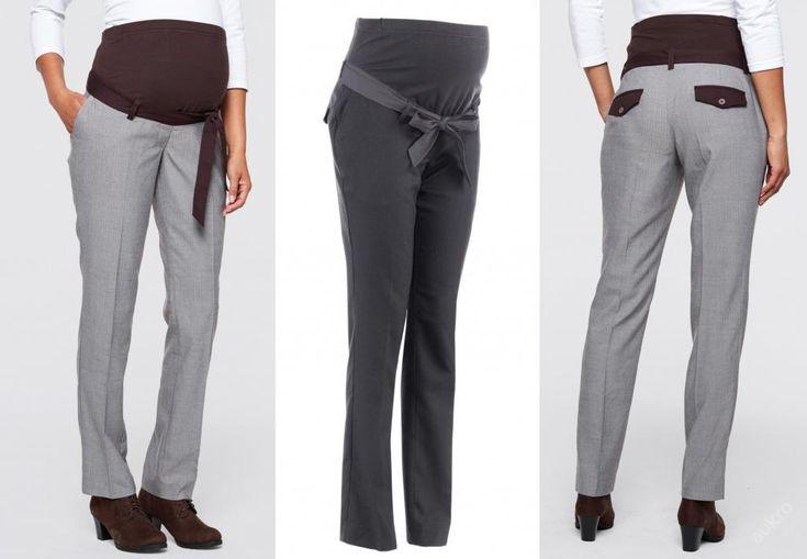 NOVÉ ,,TĚHOTENSKÉ šedé kalhoty vel.46,50 :: AVENTE ...móda s nápadem