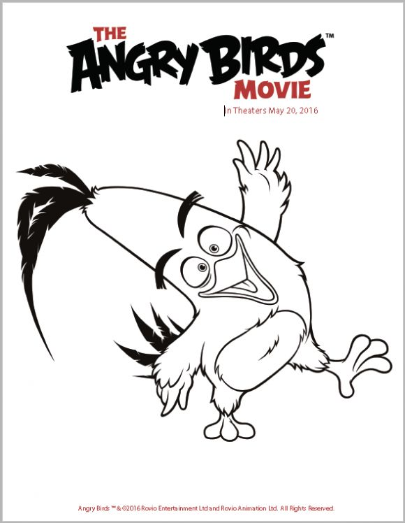 the angry birds movie trailer  coloring pages & activity