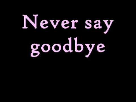 Song: Never Say Goodbye  Artist: Bon Jovi  Album: Slippery When Wet  ***I did not own the music.
