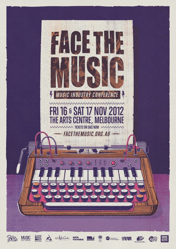 Face The Music by Andrew Fairclough, via Behance